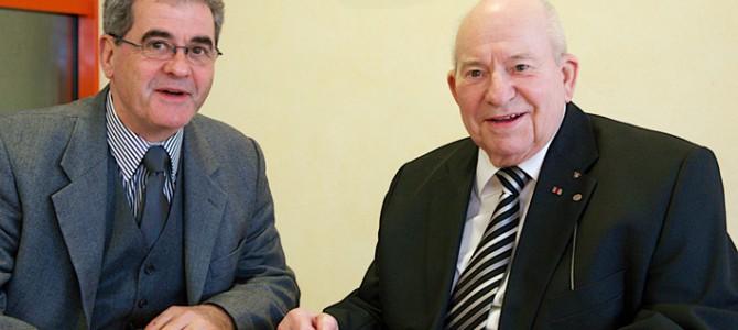 Wechsel im Vorstand 2013, alter und neuer Vorsitzender